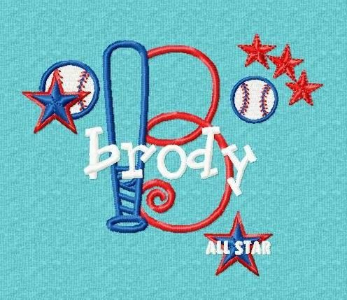 Monogram Set 11 Baseball Font Machine by FancyFontsEmbroidery, $29.99