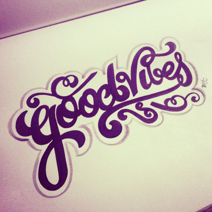 Good Vibes #lettering #letteringdaily #typography #handdrawn #handlettering #script #sharpie