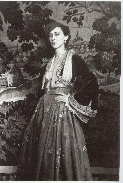 Princess Marina, Duchess of Kent in a Greek traditional costume. via carolathhabsburg's tumblr.