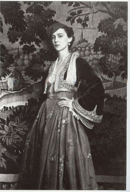 Princess Marina, Duchess of Kent in a Greek traditional costume. via carolathhabsburg's tumblr.