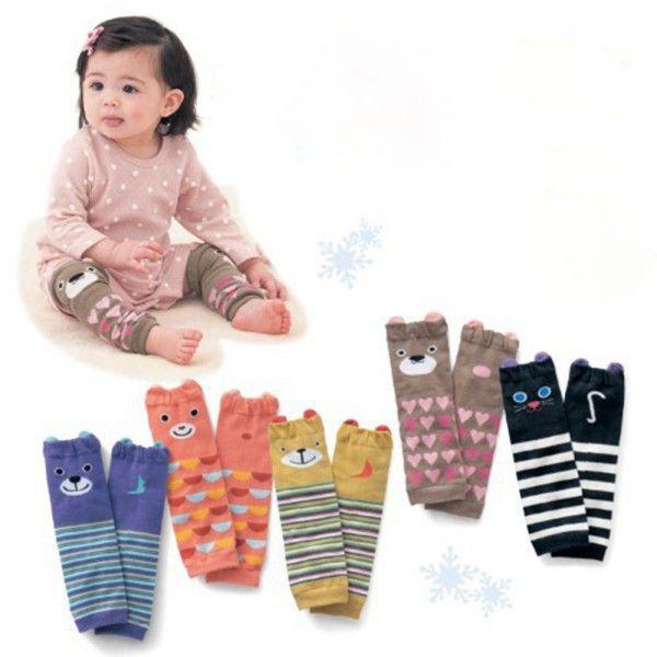 Penjualan panas kartun AC bayi penghangat kaki, Bayi laki-laki anak perempuan balita lutut - panjang bergaris kaki hangat