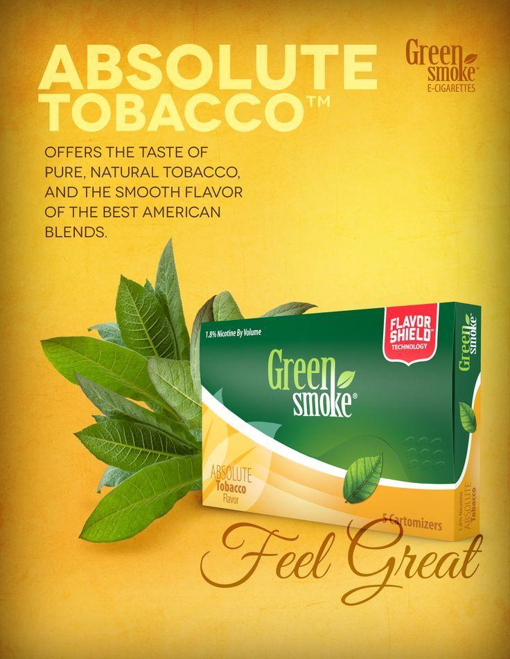 El Mejor sabor tabaco en esta presentación. si te gustaba fumar, con Absolute amaras Vapear
