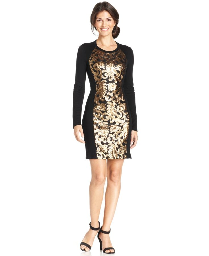 Black and gold dresses for women long
