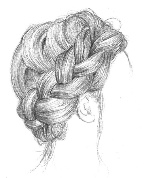 how to draw a plaited hair