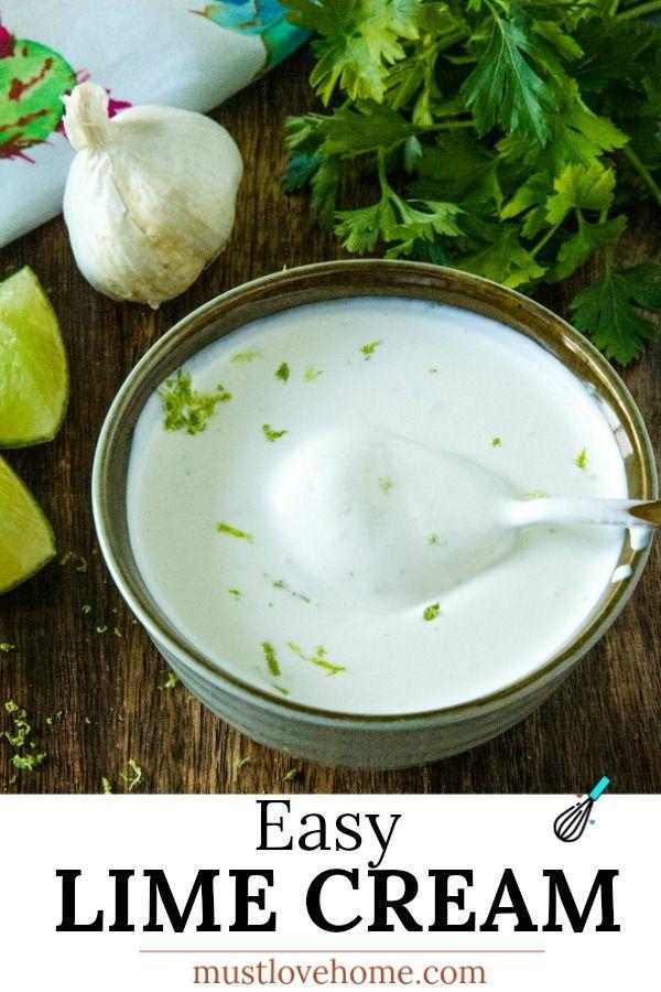 Best Easy Lime Cream Sauce Recipe Must Love Home Recipe In 2020 Cream Sauce Recipes Sauce Recipes Recipes