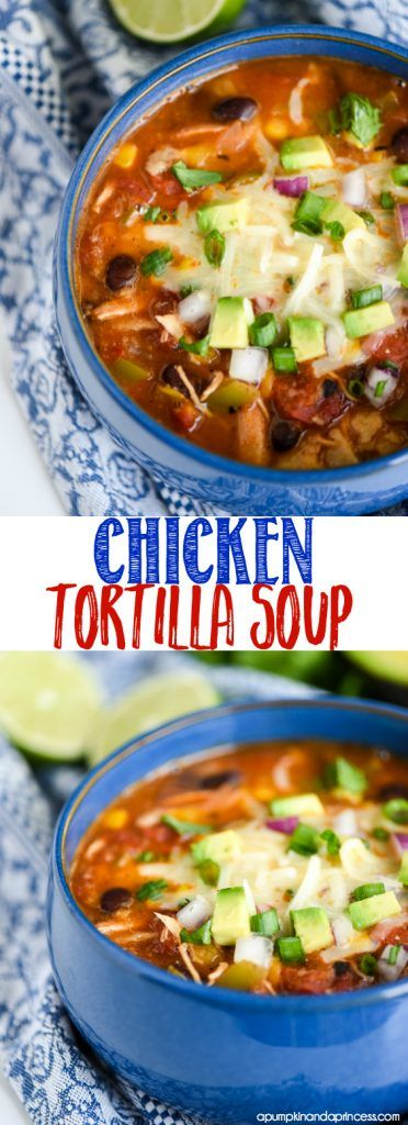 Made with fresh veggies and antibiotic free chicken, this Chicken Tortilla Soup is the perfect NewComfortFood to enjoy this fall. AD