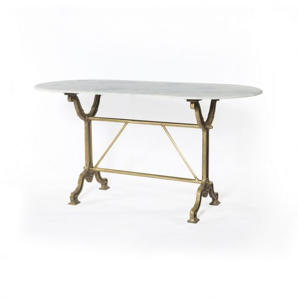 Ava Writing Table- Brass | Memoky.com