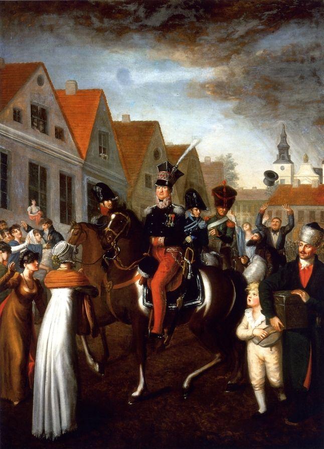 Wjazd gen. Jana Henryka Dąbrowskiego do Poznania, Jan Gładysz, 1809(?)(ze zbiorów PTPN, obecnie depozyt w MNP)