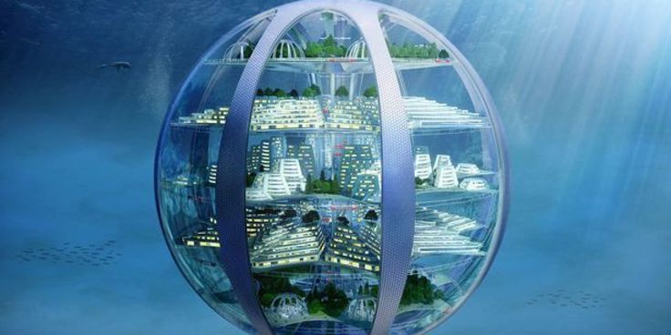 A report on life in the future has revealed that by 2116 we'll be living in giant underwater cities, 3D-printing our homes and 'downloading' our food from the internet.
