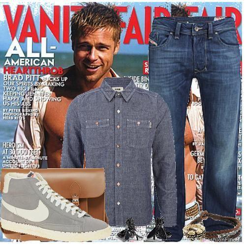Brad Pitt Clothing Style