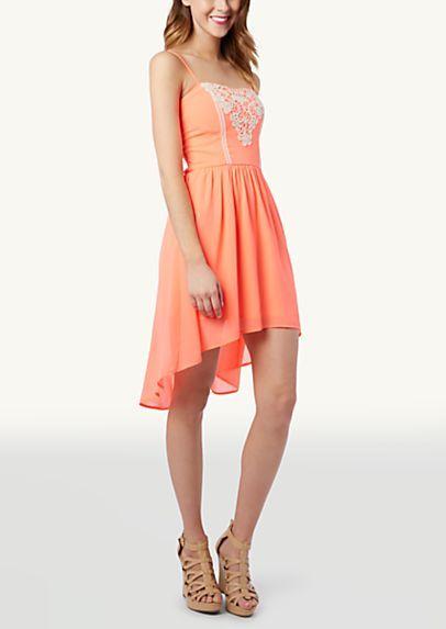 image of Crochet Sweetheart High Low Dress