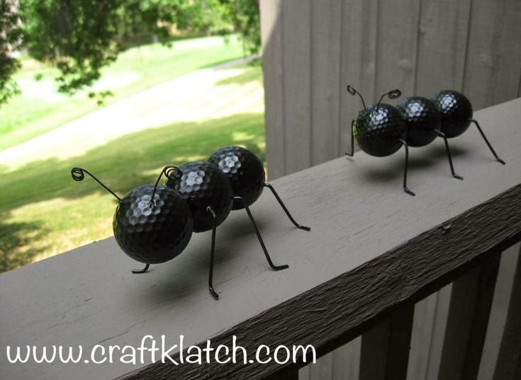 Whimsical and Fun Ants from Old Golf Balls #GolfBallsAnyone?