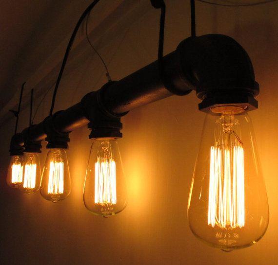 5 têtes de pipe à eau ampoule Edison style vintage de - DIY lustres - lampe - de style industriel de l'ampoule - E27 - Lampe de plafond - narguilé - edison