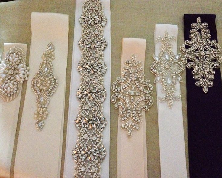 You have chosen a simple dress for your wedding and would like to spice it up? What can be better than a sash? I would like to show you my popular rhinestone sashes, I am sorry for the quality of t...