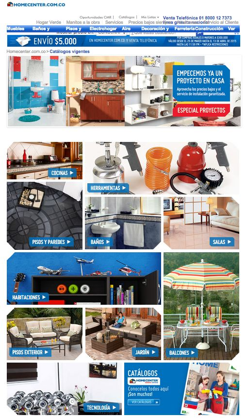 Landing - Catalogos Homecenter  http://www.homecenter.com.co/homecenter-co/category/cat20006/Catalogos-vigentes