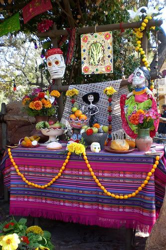 How to Celebrate Día de los Muertos - in case you have never done it. I fell in love with this celebration of loved ones who have passed on and now we celebrate it every year. It is not a day to mourn, but rather a day to remember and celebrate loved ones, with their photos, their fave foods etc ... on your offrenda (altar/offering).
