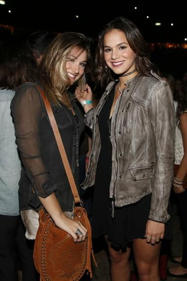 Sasha e Bruna Marquezine vão ao show de Ed Sheeran no Rio