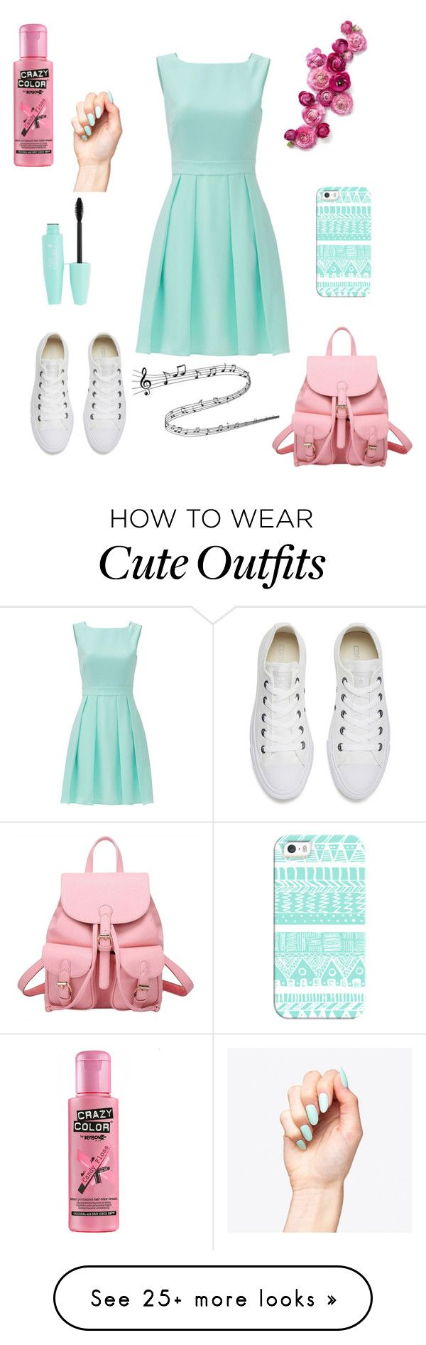 """""""cute outfit with dress for each day."""" by girlwithwine on Polyvore featuring Kate Spade, Converse and Casetify"""
