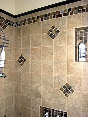 Bathroom Shower Tile Ideas | ... bathroom remodel, shower tile surround with 6x6 porcelain tile and