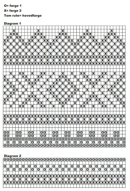 handwarmers pattern with chart