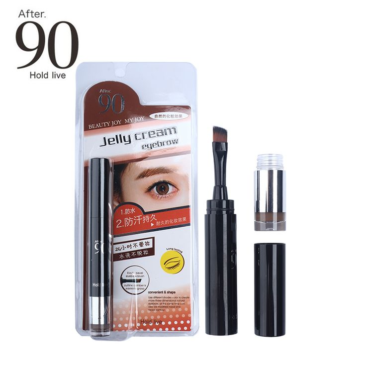 After 90 Makeup Waterproof Lock Color Cream Eyebrow Gel Pencil 3 Colors Eyebrow Tint Create 3D Natural Eyebrows Pen With Brush