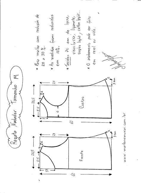 c69cbe54eb Esquema de Modelagem de regata nadador tamanho M.