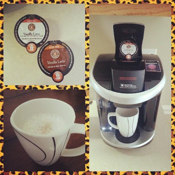 The Keurig Vue creates 2-step cafe beverages in under 2 minutes, via @tatd_princess on Instagram