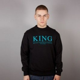 KING APPAREL KREST SELECT CREW NECK BLACK Sale £35