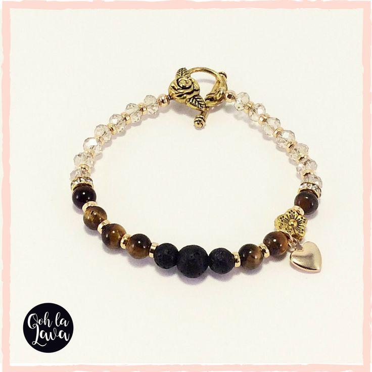 Essential Oil Jewellery Australia | Hand-made Aromatherapy Bracelet, add essential oil to lava stone.