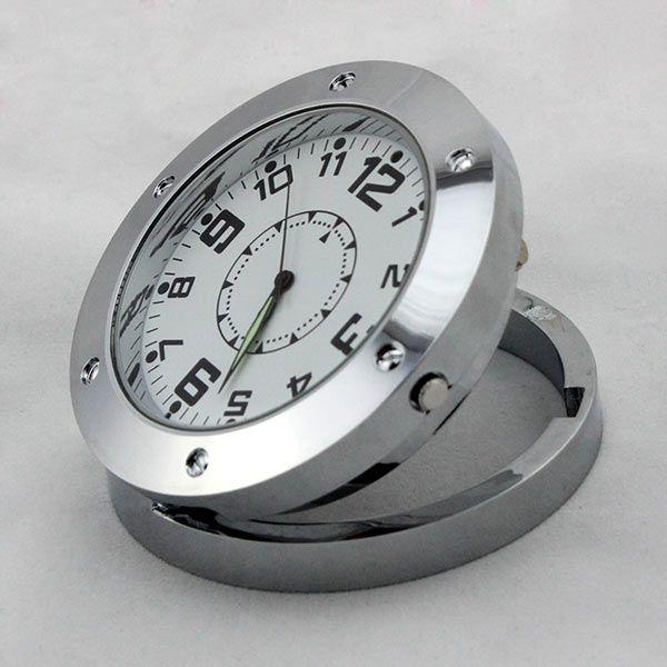 Rostfreier Stahl Spion Uhr Stylen versteckte Kamera Loch Bewegungsempfindliche Kamerarecorder