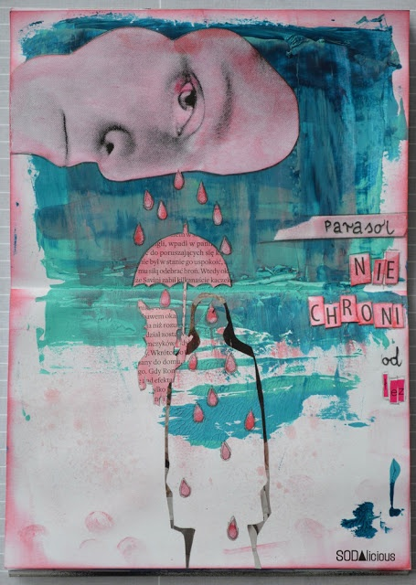 """made by Wolfann ► SODAlicious art journal challenge No13 """"Shelter"""""""
