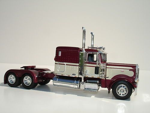 Custom Toy Semi Trucks : Dcp maroon peterbilt owner operator truck tractor