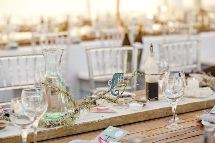 Tables - Rustic Beach Theme 21st  www.eventsandtents.co.za