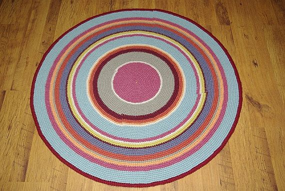 Crochet round rug 417'' 105 cm Made to order by AnuszkaDesign, $105.00