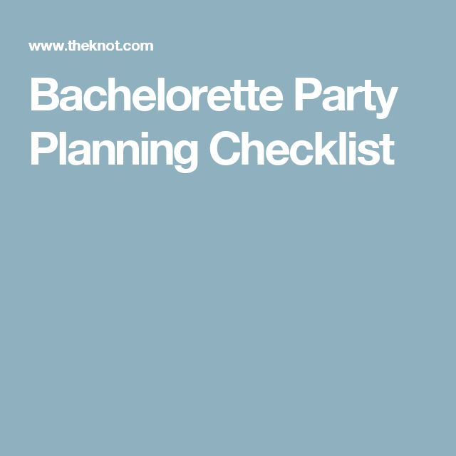 Bachelorette Party Planning Checklist