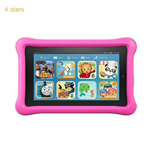 (Rating: 4 stars) #5: Fire Kids Edition Tablet 7 Display 16 GB Pink Kid-Proof Case Fire Kids Tablet Display Kid Proof has a rating of above 4 stars and remains among the top selling products in PC  category. Click below to see its Availability and Price in your country.
