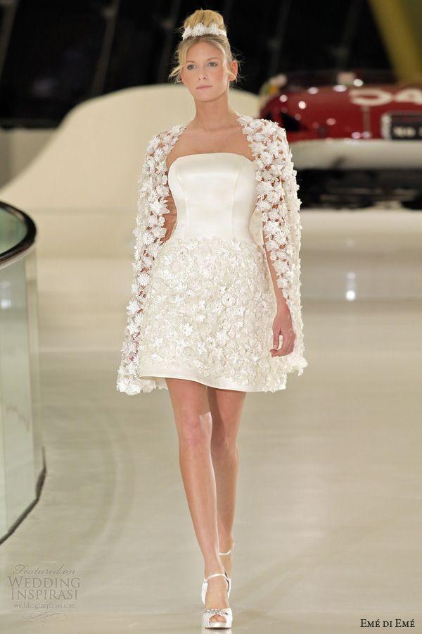 eme di eme 2014 vilnius short wedding dress floral coat