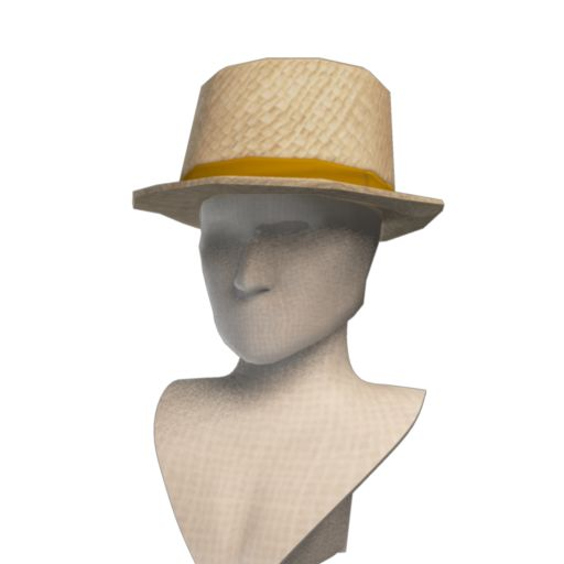 Front Row Straw Trilby Hat