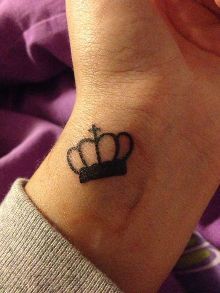 #tattoo #wrist #crown | Tattoos | Crown tattoo design ...