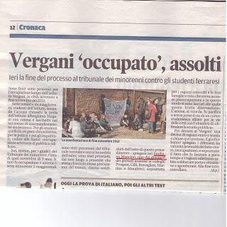 Avvocato Emiliano Mancino: #Ferrara #Occupazione #Vergani #NonLuogoAProcedere...