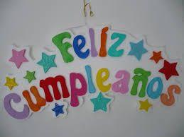 letreros para cumpleaños con fomi - Buscar con Google