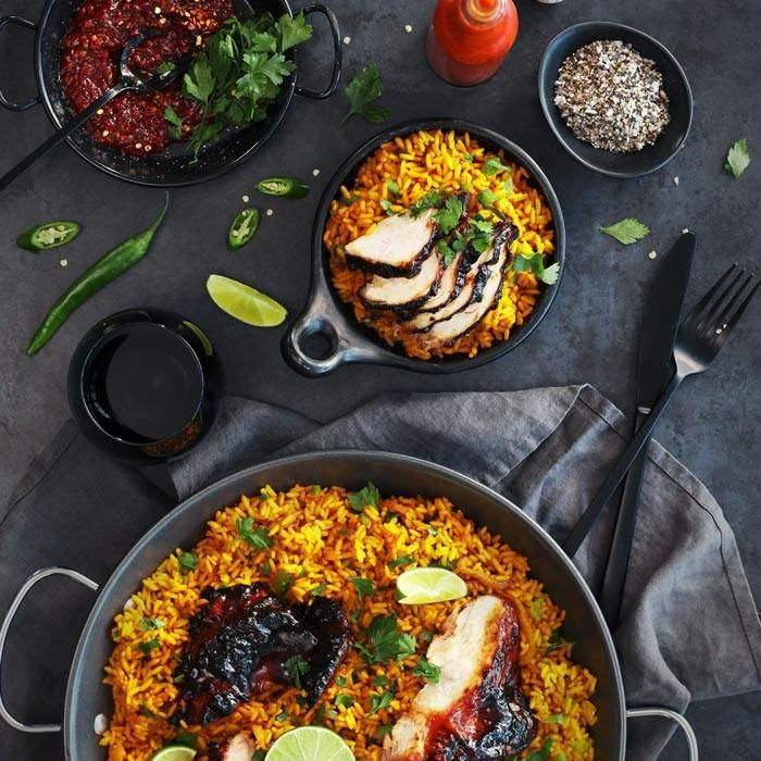 YouFoodz | Peri-Nice Chicken $9.95 | Saffron, onion and capsicum laced paella that soaks up all the juices from our beautiful charred chicken | #Youfoodz #HomeDelivery #YoullNeverEatFrozenAgain