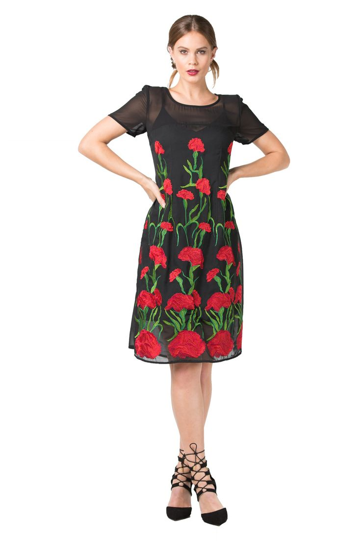 Red floral dresses | Occasion Wear | Designer Fashion