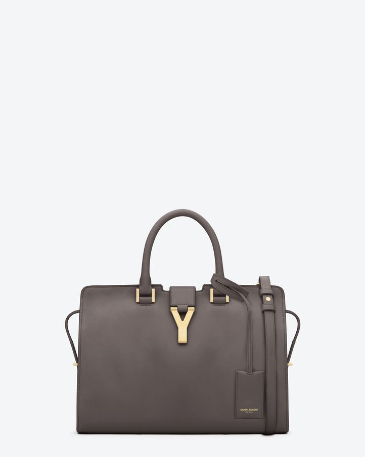 Saint Laurent Classic Small Cabas Y Bag In Earth Leather | ysl.com ...