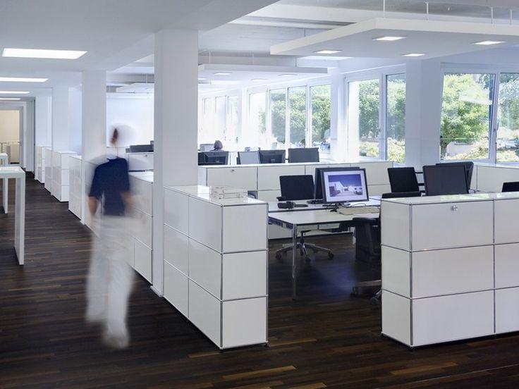 Scrivania operativa rettangolare in laminato USM HALLER TABLE FOR SHARED WORKSTATIONS | Scrivania - USM Modular Furniture