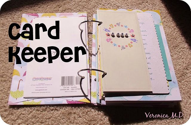 card keeper...great way to organize all those cards you don't want to throw away!
