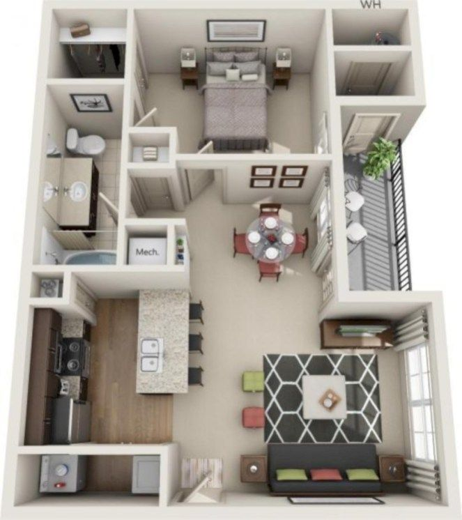 40 Stylish Studio Apartment Floor Plans Ideas Roundecor Apartment Floor Plans Studio Apartment Floor Plans Apartment Layout