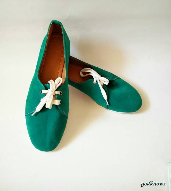 Shopo.in : Buy Women's Green Velvet Shoes online at best price in Bangalore, India