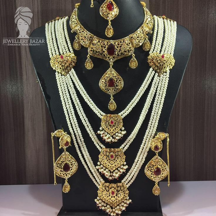 Golden Based,Semi Precious Stones Studded Hyderabadi Bridal SET  Available in Different Colours and Designs CODE: PNB 034 Price: 5,950 ( Cash on Delivery ) For order inbox us or CALL us at : 0312-8748677 whatsapp: 0345-2613601