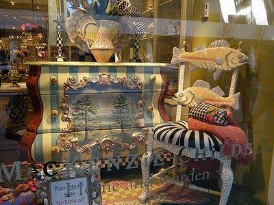 My Fav Fish Chair! Mackenzie Childs InspiredPainting FurnitureThe ...